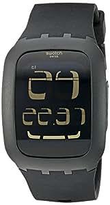 swatch Men's SURB100 Quartz Anti-Reflective Sapphire Crystal Black Watch