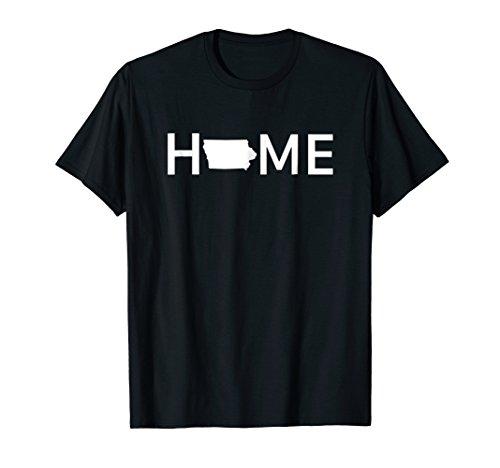 Iowa Home Love U.S. State Outline Silhouette T-Shirt