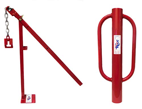 Driver Stake Tent (RICE Hydro, Inc Heavy Duty Easy to Use Post Puller/Post Driver (Bundle T-Post Puller & 3