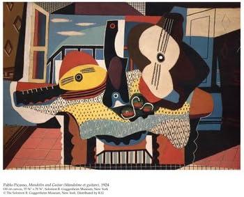 Mandolina de guitarra y póster de Pablo Picasso, 10 x 8: Amazon.es ...