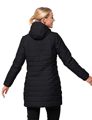 Jack Wolfskin Damen Maryland Coat Steppmantel Winddicht Wasserabweisend Atmungsaktiv Mantel, schwarz, XXL 2
