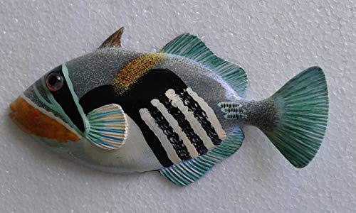 - Tropical Fish Wall Plaque Tiki Bar Beach Nautical Size 6