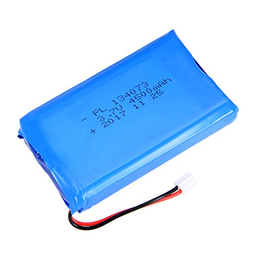 uxcell® Power Supply DC 3.7V 4500mAh 134073 Li-ion Rechargeable Lithium Polymer Li-Po Battery