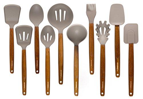 Kitchen Gear Silicone Kitchen Utensils - set of -