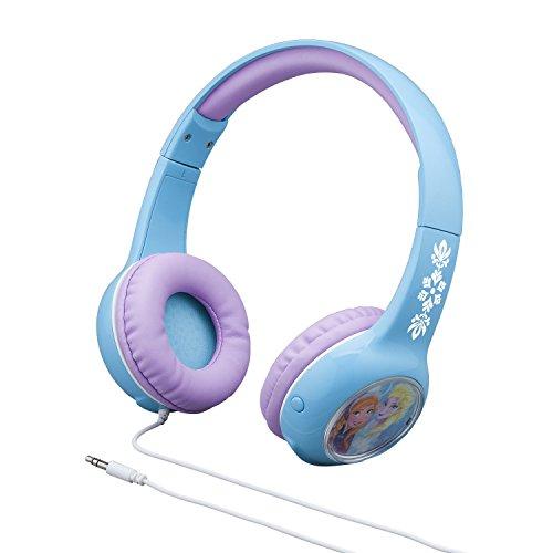 Disney Frozen Movie Anna and Elsa Kid Friendly Volume Reduced Light Up Headphones (Ihome Disney Frozen Over The Ear Headphones)