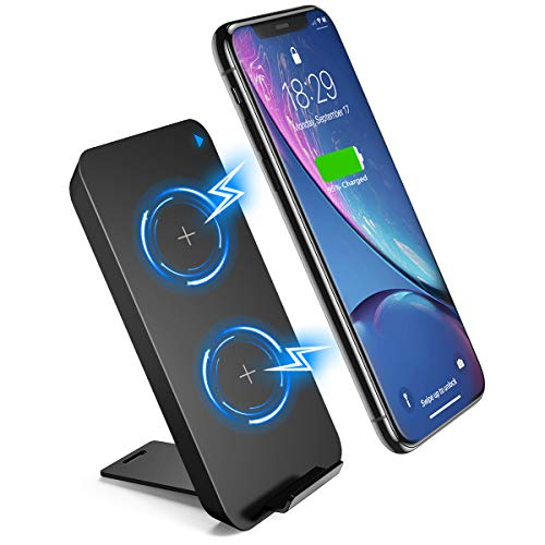 Qi Wireless Charger,Desertwest 10W Wireless Charging Stand,Fast Wireless Charging Pad Compatible for iPhone 8/8P/X/XS/XR/Xs Max/Xs,Samsung Galaxy Note 9/Note8/Note5/S8/S8+,More Mode