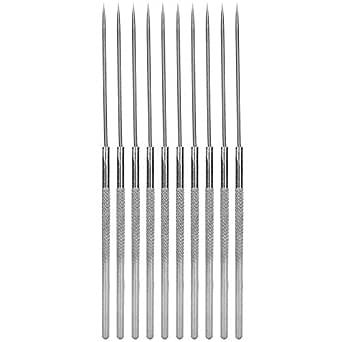 Sonda de un solo extremo de 10 piezas con aguja de disección de punta recta Disección biológica Aguja Herramientas de enseñanza experimental: Amazon.es: Industria, empresas y ciencia