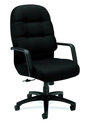 - HON HON2091CU10T Pillow-Soft Chair, Black CU10