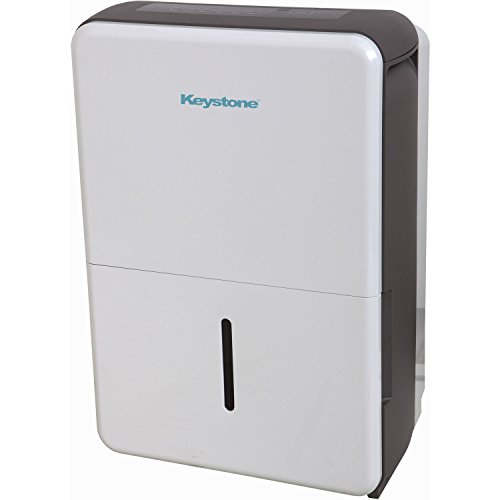 Keystone 50-Pint Dehumidifier in White/Gray,