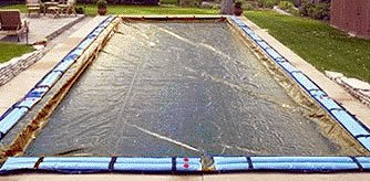 20'x40' Economy Rectangle In-ground Swimming Pool Winter Cover 8 - Pump Cover Economy Pool