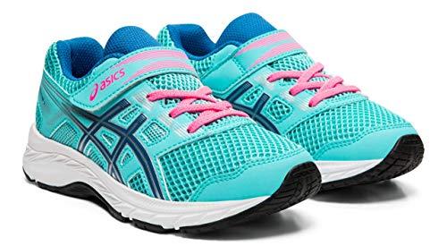 Sapphire Mint - ASICS Contend 5 PS Kid's Running Shoes, Ice Mint/Deep Sapphire, K12 M US Little Kid