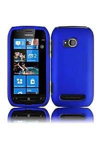 Nokia Lumia 710 Rubberized Shield Hard Case - Blue (Package include a HandHelditems Sketch Stylus Pen)