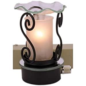 Electric Wall Plug-in Frosted Glass Tart/Oil Warmer