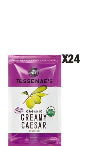 (Tessemae's Creamy Caesar Dressing - 1.5oz Dressing Pouches - Whole30 Approved)