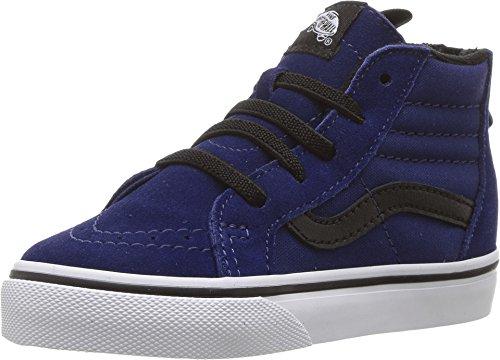 Vans Men's SK8 Hi Zip Skateboarding Shoes (6 Toddler M, Blue Depth/ - Vans Toddler 6