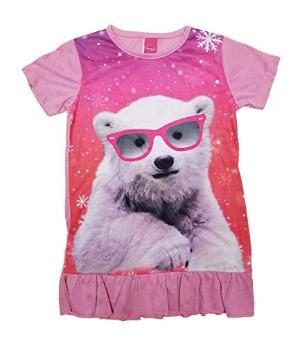 (Girls Nightgowns Princess Girls Pajamas with Mermaid Cat Narwhal Wolf Pineapple Penguin Polar Bear (Polar Bear, 10/12))