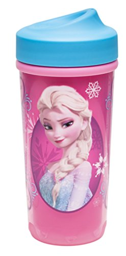 Zak Designs Toddlerific Perfect Flo Toddler Cup, Elsa and Anna from Frozen ()