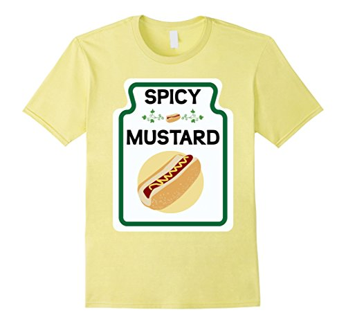 Ketchup Mustard And Relish Halloween Costumes (Mens Easy Costume T-Shirt Mustard Ketchup and Relish Group Tee's Large Lemon)