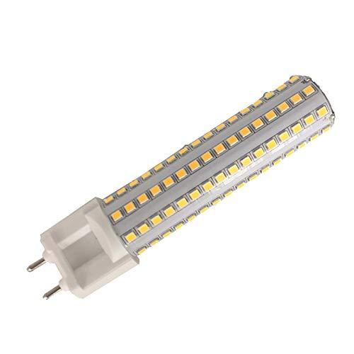 (LETELITE Dimmable 15W G12 LED Light Bulbs Lustaled G12 Base Halogen Flood Light 150W Replacement Corn Light Bulb 360 Degree Beam Angle Lamp,Warm White)