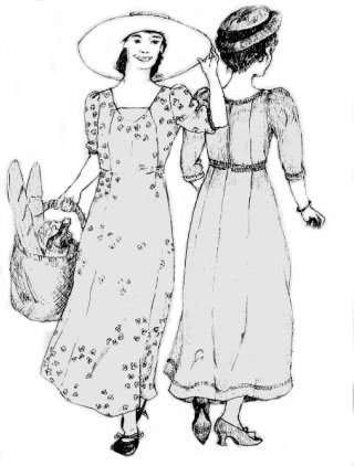 Edwardian Sewing Patterns- Dresses, Skirts, Blouses, Costumes 1909 Edwardian Dress Pattern                               $19.95 AT vintagedancer.com