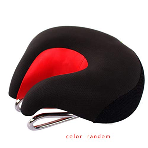 Topker Outdoor Sports Mountain Bike Cycling Bicycle Split-Nose Saddle Pad Seat Reflective Warning Safety Cushion Random Color