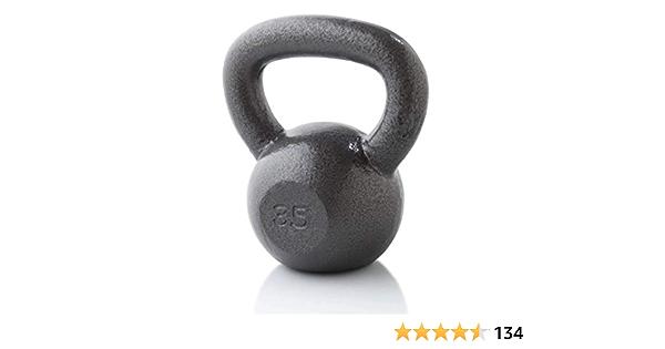 NEW Weider 35 Lb Pound Kettlebell Weight Cast Iron Kettle Bell 35lb
