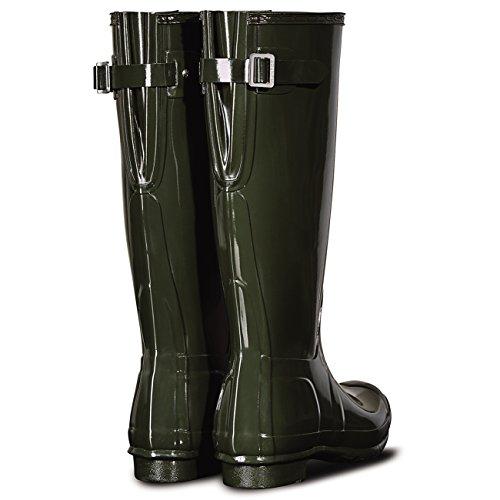 Original Hunter Olive Womens Winter Boot Wellington Rain Back Adjustable Gloss Dark ZpR56q