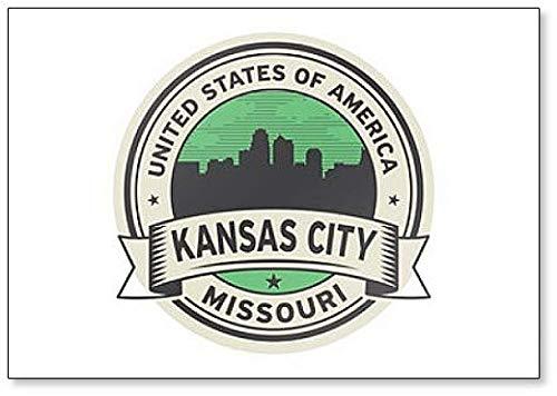 Label with Name of Kansas City, Missouri Fridge Magnet (Refrigerator Name Magnets)