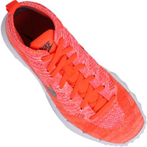 Nike Womens Flyknit Chukka Golf Shoes Totale Cremisi / Nero / Rosa Blast / Bianco