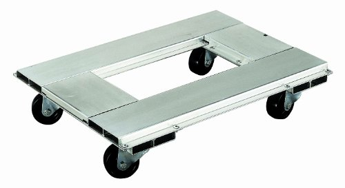 Magliner CDH1824 Aluminum Caster Dolly, High Strength, 900 lb Capacity, 24″ Length x 24″ Width x 5-1/4″ Height