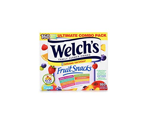 WELCH'S Ultimate Combo Pack Fruit Snacks,0.5 Ounce, 8 Flavor, 160 Count