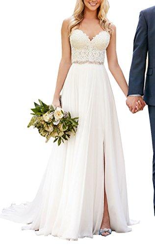 Special Bridal - Vestido de novia - Sin mangas - Mujer Stil3 Elfenbein