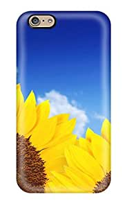 Hot UwIgBHj8095HLIPO Case Cover Protector For Iphone 6- Pure Yellow Sunflowers