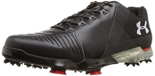 Under Armour Men's Spieth 2 Golf Shoe, White(100)/Black, 11 2E US