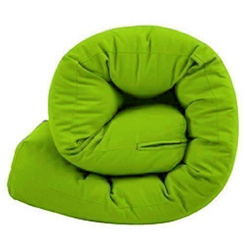 Double 2 Seater Futon Mattress, Multi Layer Tufted Futon Mattress. 100% Cotton Twill Cover, Lime Green Matching Bedroom Sets