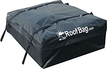 Heavy Duty Straps  Made in USA Includes Protective Mat Cross Bars 1 Year Warranty Storage Bag for Cars with Side Rails or Baskets RoofBag Rooftop Cargo Carrier Bundle Waterproof