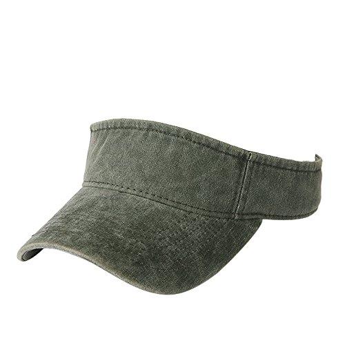 7ca58d299b7 Summer Fashion Sport Baseball Caps for Women Men Cotton Sun Cap(Dark Green)