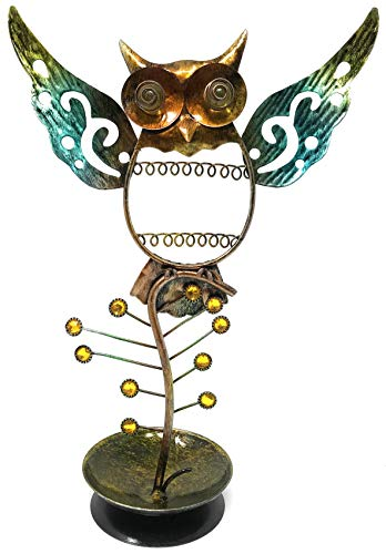 Bejeweled Display Owl Ring, Necklace & Earring Holder Combo Jewelry Display