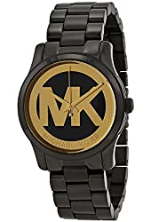 Michael Kors MK6057 Women's Runway Black Ion-Plated Stainless Steel Bracelet Watch