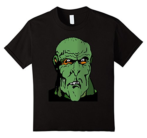 Kids Giant Green Ogre Monster Tee Shirt costume Halloween 4 (Giant Monster Costume)