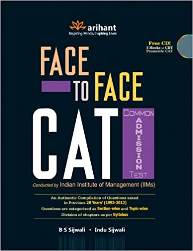Face 2 Face CAT Common Admission Test: An Authentic Compilation of Questions Asked in Previous20 Years', 1993-2012 (With CD) price comparison at Flipkart, Amazon, Crossword, Uread, Bookadda, Landmark, Homeshop18