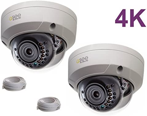 Q-See 4K 8MP HD QC IP Series Dome Security Camera