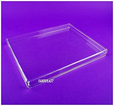 Faberplast FB958 - Caja plana con tapa, color transparente