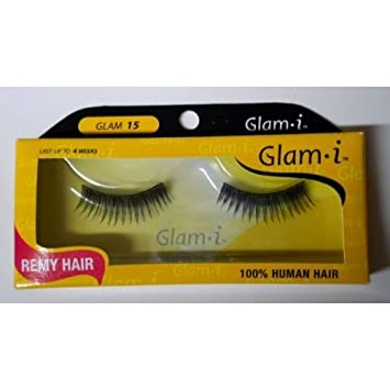 4d2c39a439d Amazon.com : Glam i Remy Hair 100% Human Hair Eyelashes (Pack of 6)- Glam  15 by Glam i : Beauty