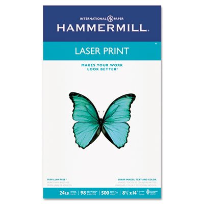 Laser Print Office Paper, 98 Brightness, 24lb, 8-1/2 x 14, White, 500 Sheets/RM, Total 10 RM, Sold as 1 Carton by Hammermill (Image #5)