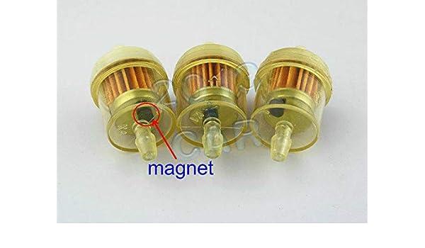 [XOTG_4463]  Compatible with 3pcs Honda ATV Dirt Bike Inline Gas Carburetor Fuel Filter  1/4