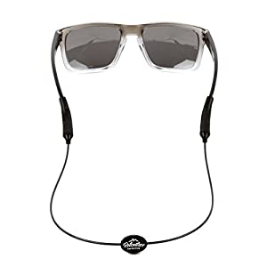 Rec-Strapz Sunglasses / Eyewear Retainer System for Active Lifestyles - Made in USA - Patent Pending Design – Universal fit for any Eye Glasses / Sunglasses - Black Standard
