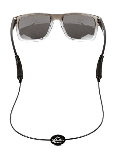 Rec-Strapz Sunglasses / Eyewear Retainer System for Active Lifestyles - Made in USA - Patent Pending Design – Universal fit for any Eye Glasses / Sunglasses - Black Standard (Sunglasses Accessories)