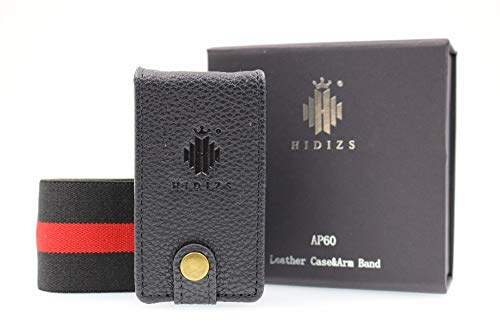 HIDIZS Leather Case for AP60 Bluetooth MP3 Player High Resolution Music Player Lossless Digital Audio Player (Black)