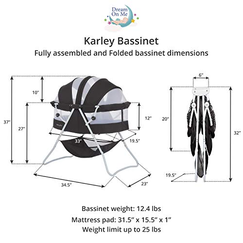 Dream On Me, Karley Bassinet, Black